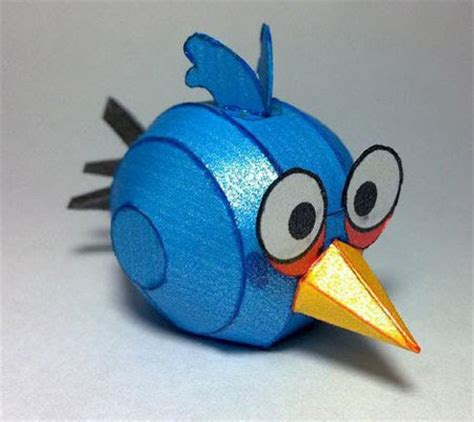 Angry Birds Paper Crafts Gadgetsin by Blue Angry Birds Papercraft Paperkraft Net Free