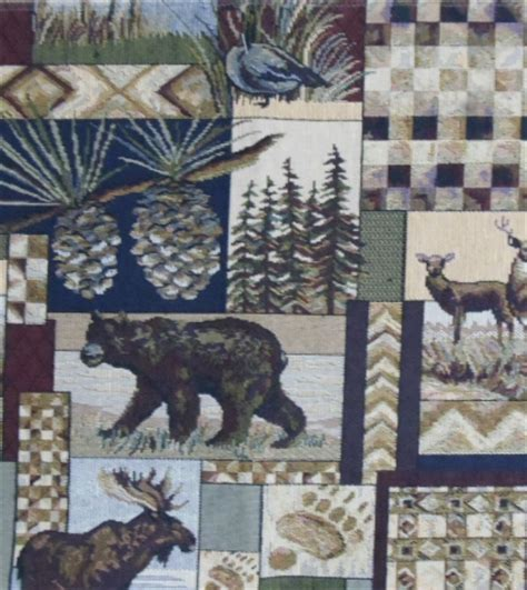 home decor upholstery fabric regal fabrics peters cabin rustic lodge tapestry upholstery fabric great lakes