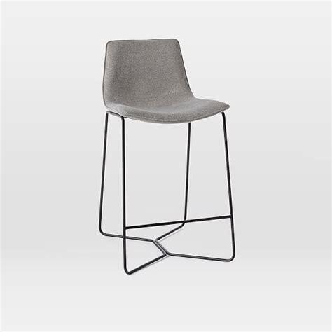 upholstered bar stools slope upholstered bar counter stools west elm