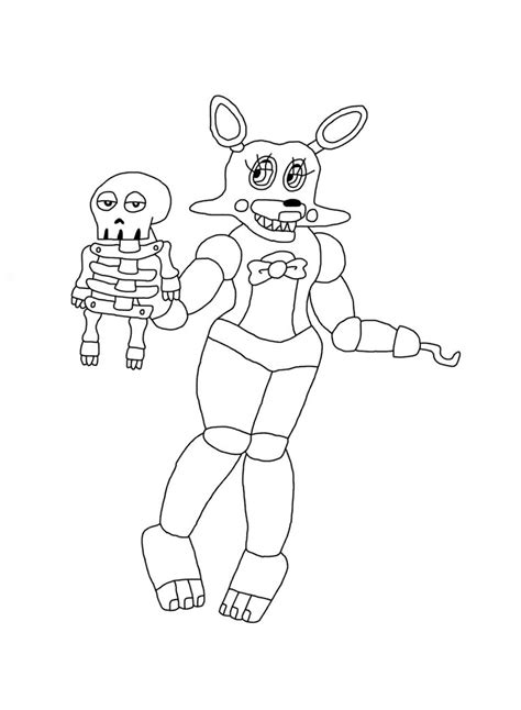 broken foxy coloring pages coloring pages