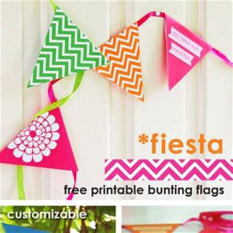 free printable bunting flags and tutorial colorful bunting flags free printable tip junkie