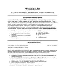 maintenance technician resume sles aviation maintenance technician resume delzer