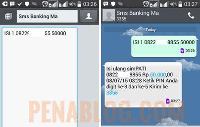 cara format isi pulsa sms banking bni cara isi pulsa simpati lewat mandiri sms banking