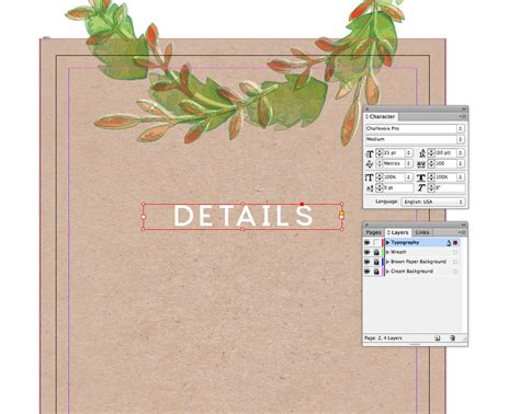 creating invitation indesign how to create a rustic wedding invitation in adobe