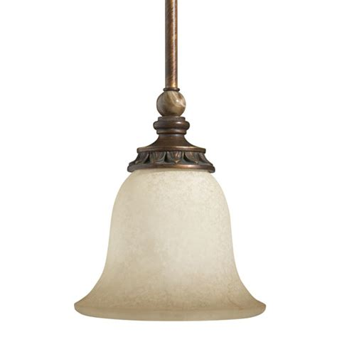 Portfolio Pendant Lighting Shop Portfolio Lola 7 In W Golden Bronze Hardwired Standard Mini Pendant Light With Frosted