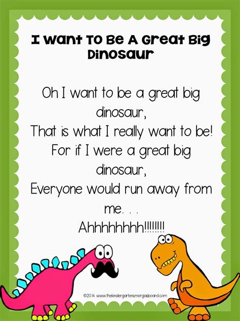 list themes poems search poem and preschool dinosaur