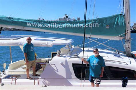 bermuda catamaran sail sail bermuda s new catamaran makes splash bernews
