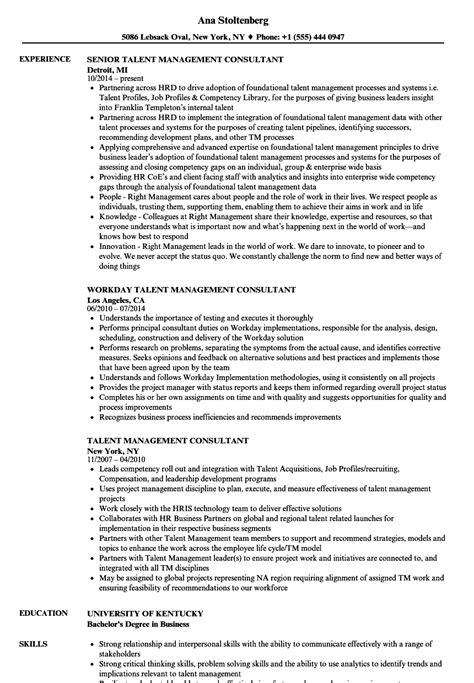 Talent Development Manager Resume Sle Talent Management Resume Exles Gallery
