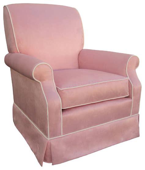 Pink Glider Chair by Club Rocker Glider Pink Faux Suede Modern Rocking