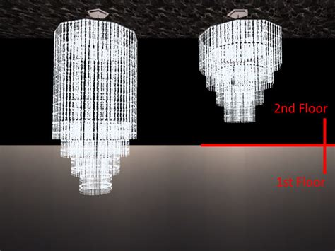 Outdoor Chandeliers Mod The Sims The Vertex Crystal Chandeliers