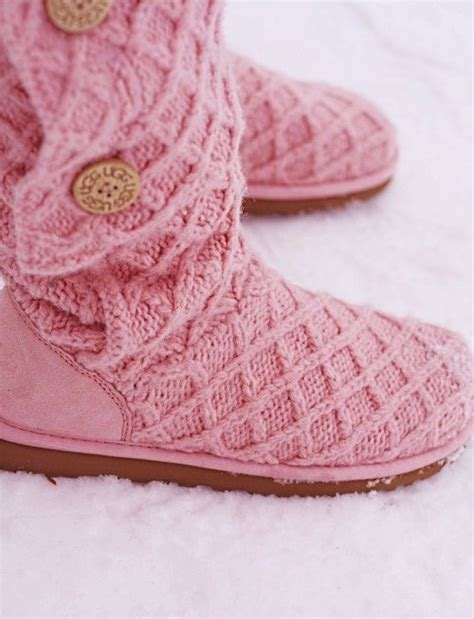 pink knitted boots pink knit uggs boots for shoes