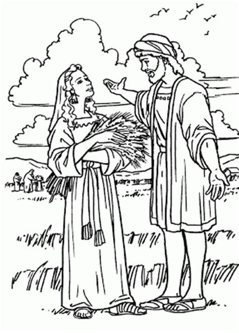 imagenes biblicas de rut rut y noemi para colorear