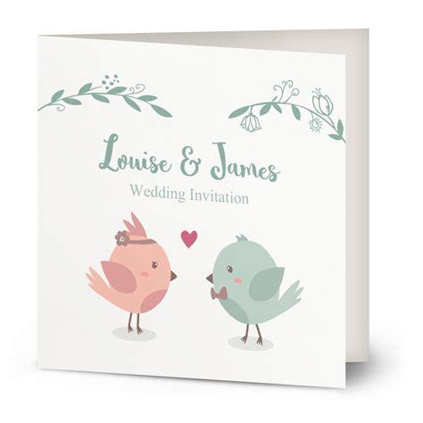 bird wedding invitations nz sweet birds wedding invitation beautiful wishes