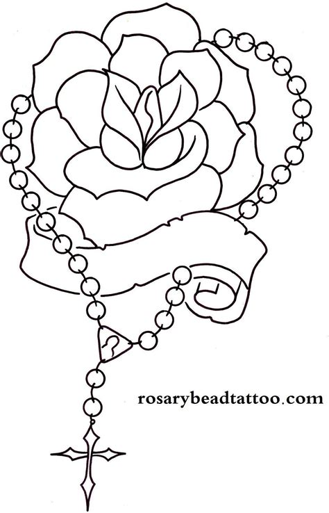 rose and rosary tattoo designs rosary drawings banner rosary