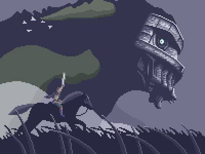 pixel pattern gif shadow of the colossus pixel gif find share on giphy