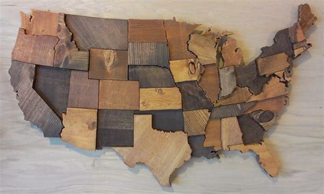 united woodworking contiguous usa map wall wooden state united states map