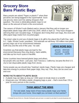 Articles The Search For The Bag news for you grocery store bans plastic bags education
