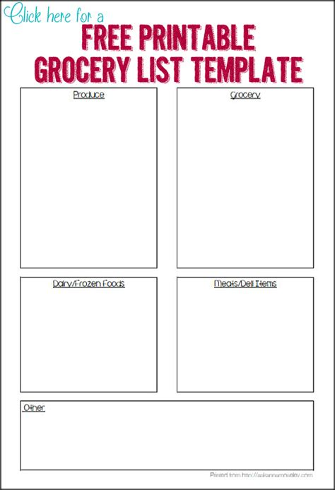 organized grocery list template doc 560602 free printable grocery list templates