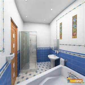 Decorate small bathroom with soft and beautiful tiles
