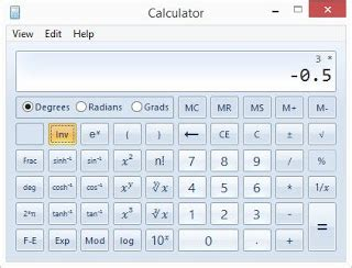 Calc Os os tex exp function in windows calculator