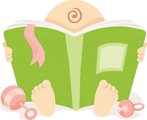 Baby Does 206 Clip 1 baby reading a book clipart clipartxtras