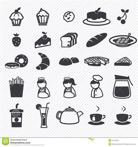 Pastry Kitchen Design by Bakery Icons Set Stock Photo Image 41155259