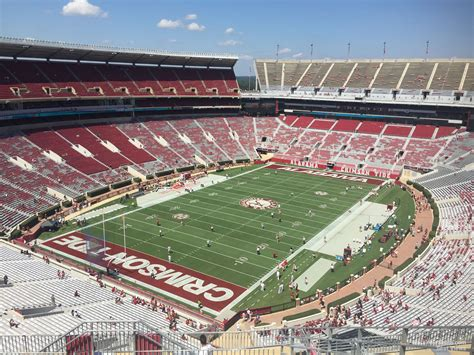 bryant denny stadium student section bryant denny stadium section ss2 rateyourseats com