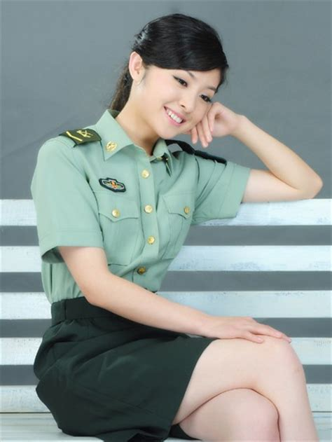 chinese military uniform girl the uniform girls pic china military uniform girls 012
