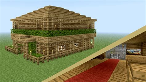 Two Bedroom Minecraft House Minecraft How To Build Wooden Tavern