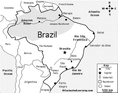 coloring page map of brazil map of brazil for kids images