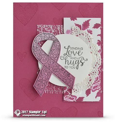 Tami Set Pink 113 best ribbon of courage images on diy cards