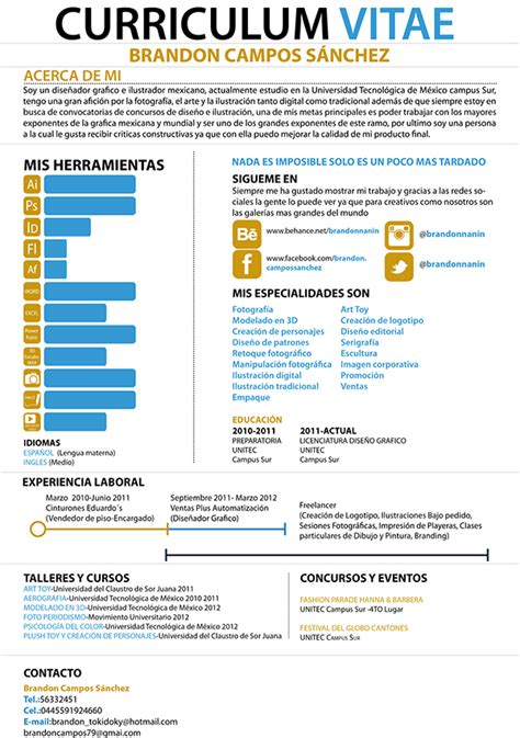 my infographic cv on behance