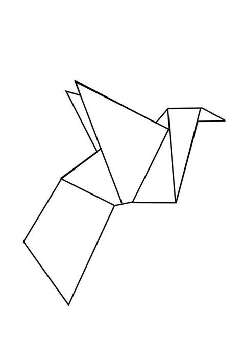 Dessin Oiseau Origami by Geometric Geometrique Bird Oiseau Modele En