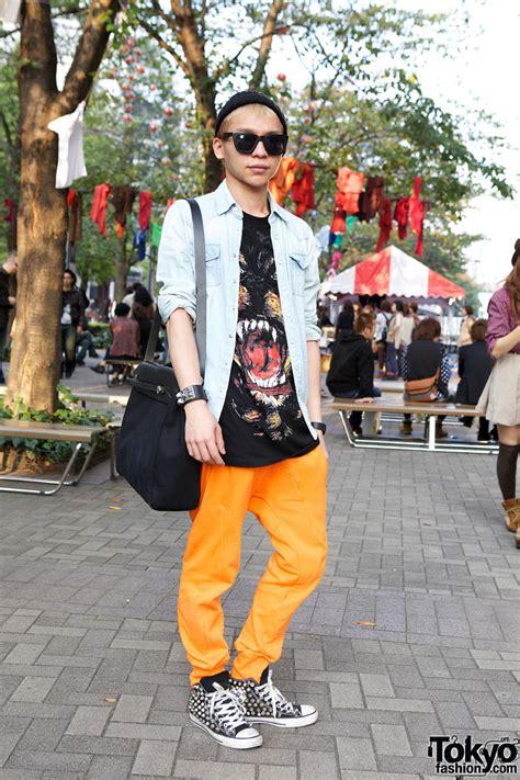 Bunka Fashion Student Wearing Hermes, Givenchy & Neil Barrett in Shinjuku