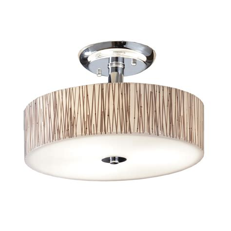 Clear Glass Flush Mount Ceiling Light Shop Allen Roth 18 In W Polished Chrome Clear Glass Semi