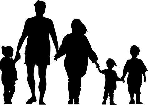 infants and children in the church five views on theology and ministry books file family silhouette png wikimedia commons