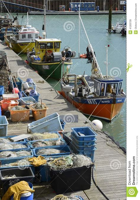 boat supplies brighton fishing tackle on a pontoon royalty free stock photo