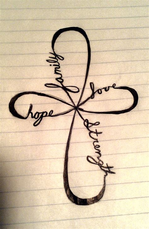 hope symbol tattoo family strength tattoos