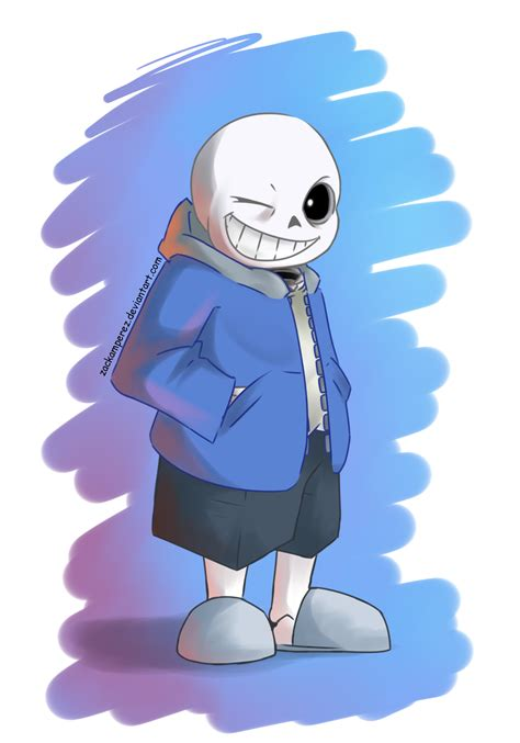 undertale sans the skeleton sans the skeleton by zackamperez on deviantart
