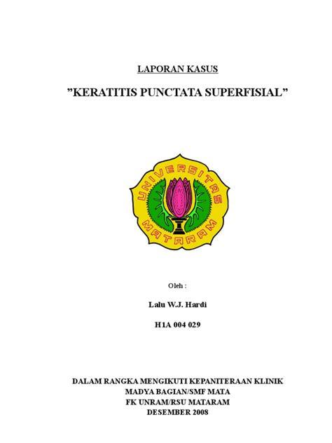 Rsu Unram | keratitis punctata superfisialis