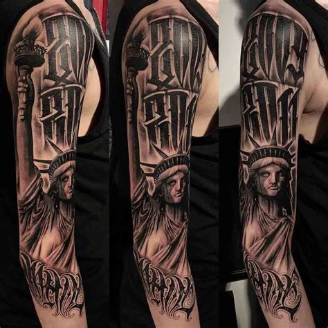 chicano tattoo designs statue of liberty chicano badie ink