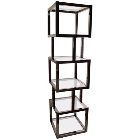 Etagere 170 Cm by Chrome Cube Form Etagere For Sale At 1stdibs