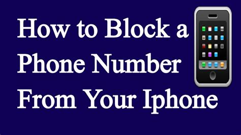 how to block a phone number from your iphone