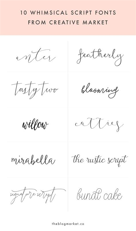 handwriting tattoo whimsical script fonts from creative market