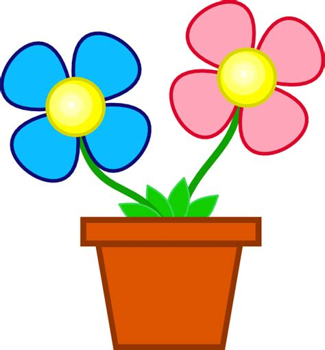 Clipart Flower Vase by Flowers In A Vase Clip At Clker Vector Clip