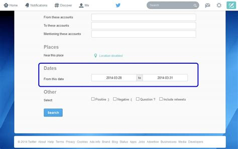 Search S Tweets Advance Search Feature Let You Search Tweets By Specific Date