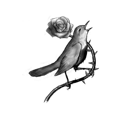nightingale tattoo the nightingale and the by bassless on deviantart