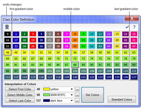 class colors assign class colors