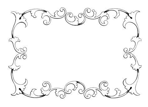 wallpaper black and white frames clip art frame border freebie oh so nifty vintage graphics