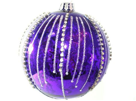 purple glass christmas tree ornament purple passion